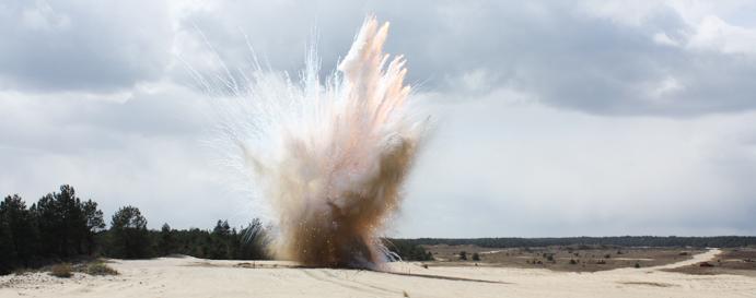 Afbeelding van explosie van een explosief