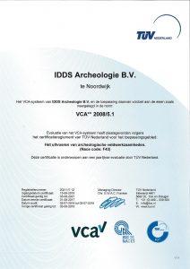 VCA IDDS Archeologie