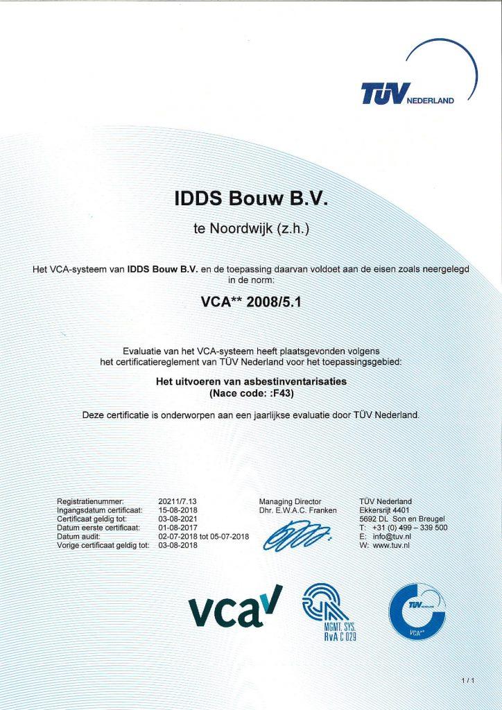 VCA IDDS Bouw
