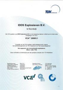 VCA IDDS Explosieven