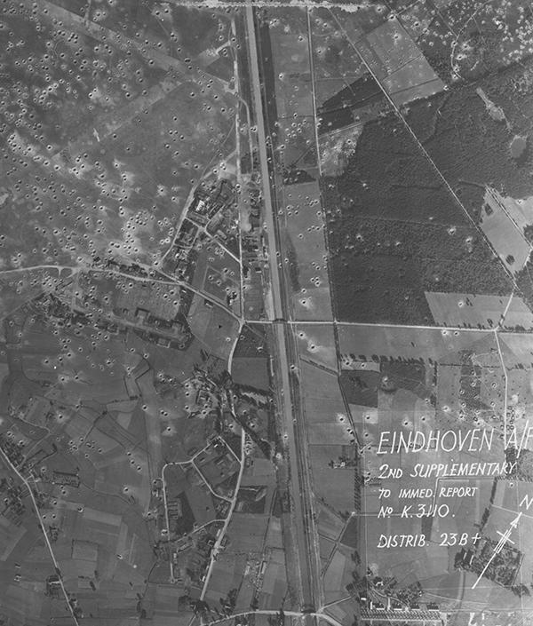 Luchtfoto bombardementen Eindhoven