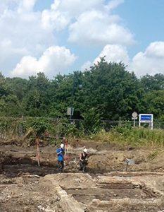 Impressie projectlocatie Archeologische opgraving in Aalsmeer