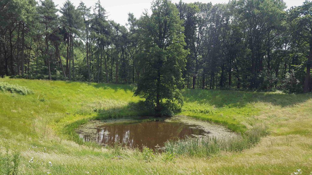 Krater ter plaatse van de voormalige Caterpillar
