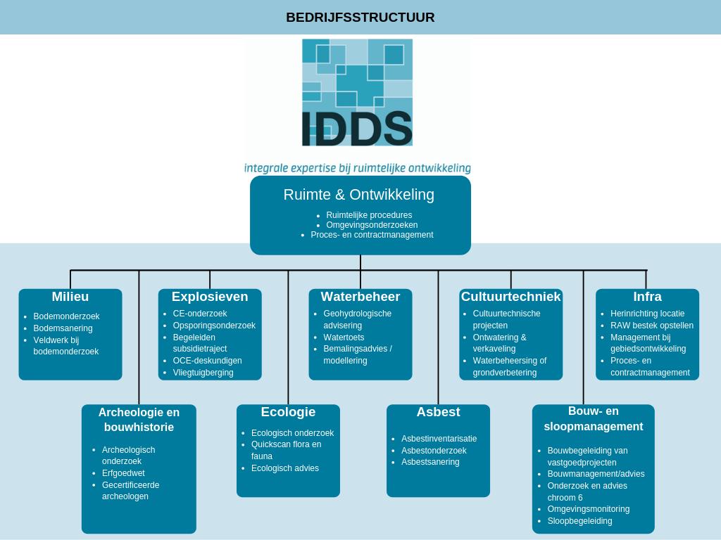 Organogram van bedrijfsstructuur