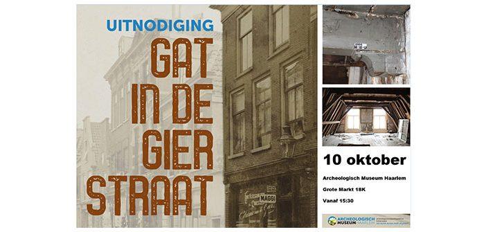 Bouwhistoricus Michel van Dam spreekt donderdag 10 oktober bij opening tentoonstelling 'Gat in de Gierstraat'