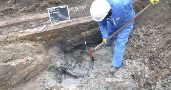 Illustratie van archeologische opgraving