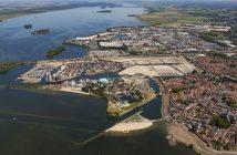 Een luchtfoto van het Waterfront Harderwijk